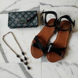 Dolce Vita Black Sandals Ankle Strap